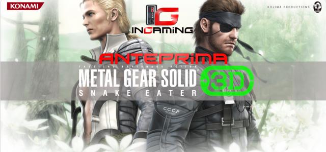 Mostrato fin dal debutto della portatile Nintendo, il capitolo di Metal Gear Solid più amato, forse il migliore,sta per arrivare sul 3DS, quel che conta però in questa occasione è...